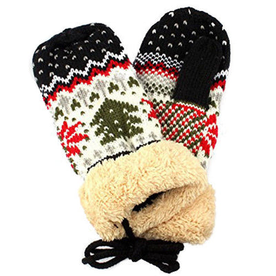 New Fashion Christmas Women Knitted Knit Twist Mittens Gloves Warm Winter ( U5J1