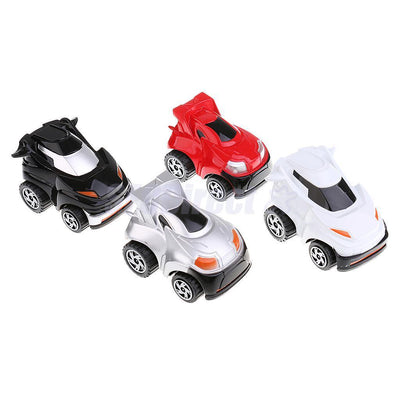 4PCS Pull Back Car Vehicle Toys 360 Degree Rotation for Kids Toddler Party