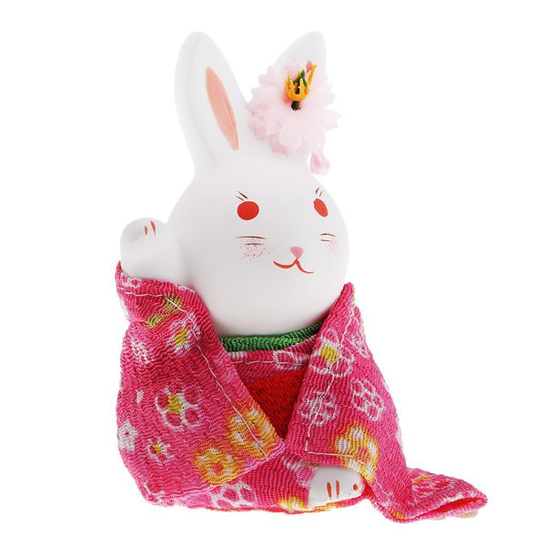 Cute Japanese Rabbit Blessing Attracting Lucky Wealth Home Office Decor #6