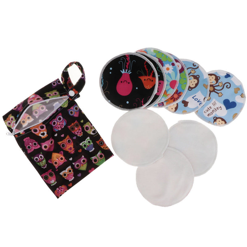 MagiDeal 5 Pairs Reusable Nursing Pads Breastfeeding Pads with Carrying Bag