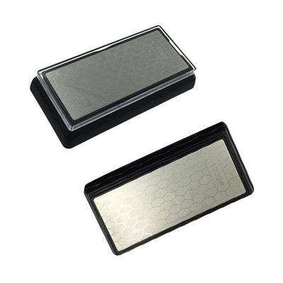2 pieces Double Sided Diamond Plated Whetstone Chisel/Blade Sharpening Stone