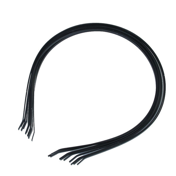 10Pcs 3mm Blank Headbands Metal Hair Band Lots DIY Accessories Black SH