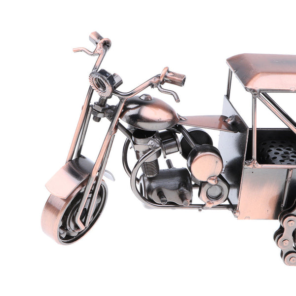 Old-fashioned Metal Motorcycle Art crafts Home Décoration -Tricycle Motor