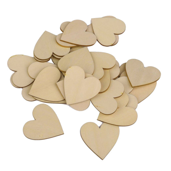 Empty heart hearts slices wedding Christmas decorations, pack of 25, 50mm T4I1