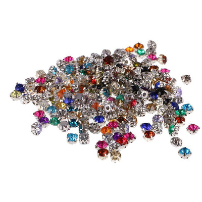 10x Crystal Diamante Rhinestones Mixed Color Sewing Craft 0.24'' for Clothes