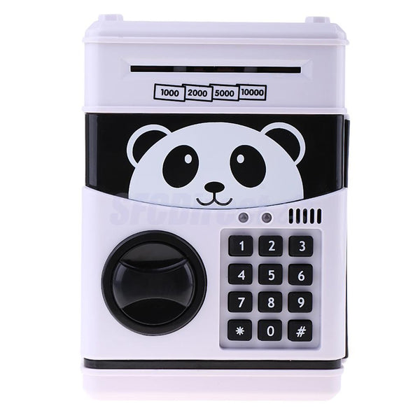 Password Panda Safe Code Money Boxes Cash Piggy Bank w/Music Birthday Gift