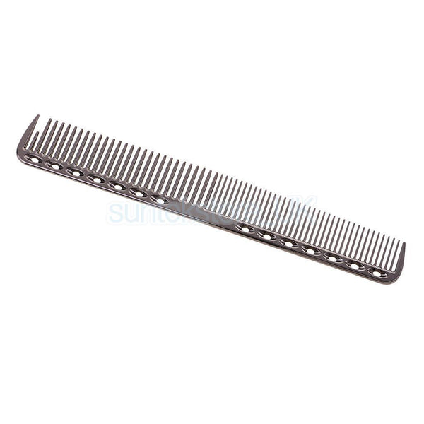 Professional Aluminum Metal Hair Cutting Comb Barbers Hairdrressing Comb