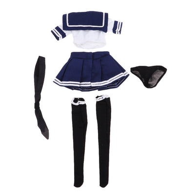 1/6 JK Uniform Set- Sailor Shirt, Pleated Skirt, Knee High Socks, Underpants