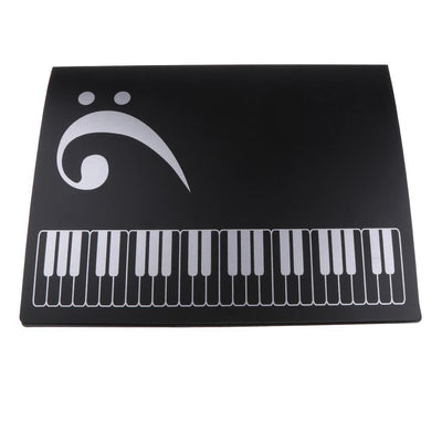 New Pattern Document Storage Piano Sheet Favorites for Piano Players Black