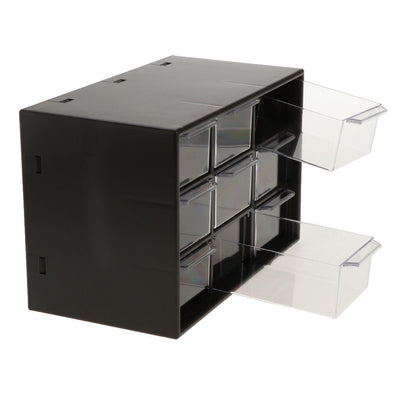 2x Cosmetic Makeup & Jewelry Storage Case Display,9Drawers Space Storage Box