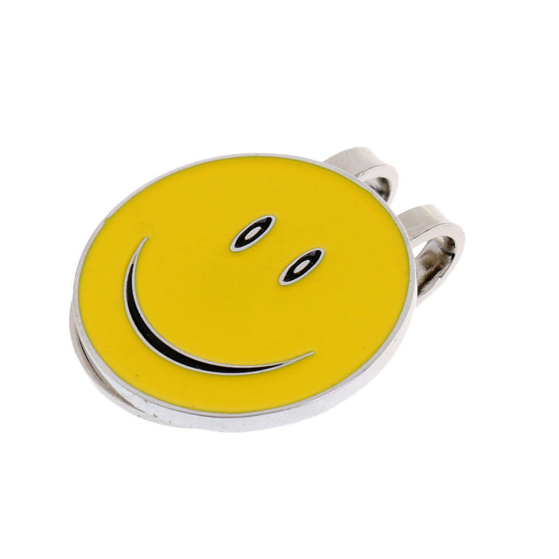 10 Pieces Smile Face Golfer Magnetic Cap Hat Clip Golf Ball Marker Set Gifts