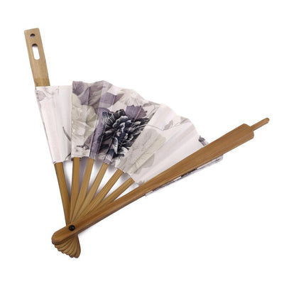 MagiDeal 2x Chinese Japanese Folding Sakura Silk Hand Bamboo Pocket Fan