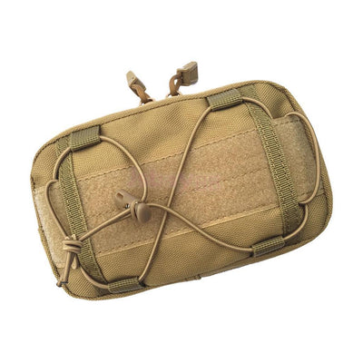 "6.7x 4.7"" Strong Durable 1000D Nylon Multi-purpose MOLLE Utility Pouch - Tan"