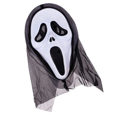 Scary Ghost Skeleton Mask Face Hood Halloween Masquerade Party Supplies -#1