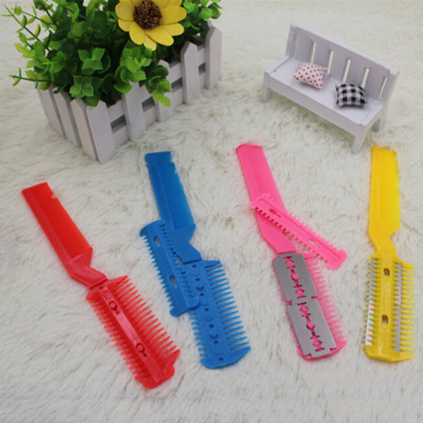 Hair Razor Comb Hairdressing Thinning Trimmer Punk Home Professional Scissor ñlç