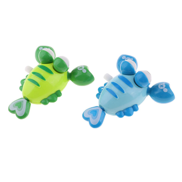 2Pcs Random Pull Cartoon Wind Up Crayfish Animals Baby Kids Clockwork Toys