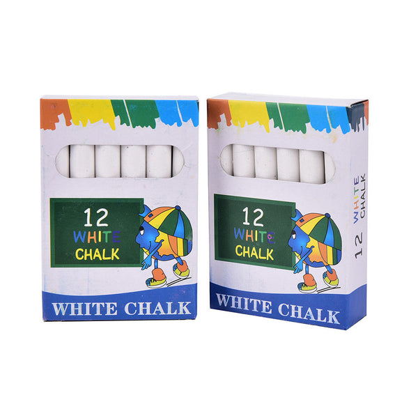 12X White Drawing Chalk For School Education Chalk Stationary Office Suppliesgj9