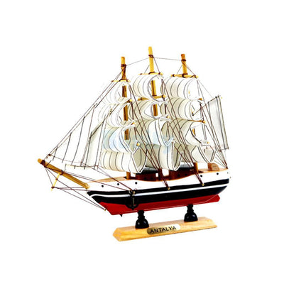 Set of 3pcs Wooden Mediterranean Ship Sailboat Models Home Furnishing Decor