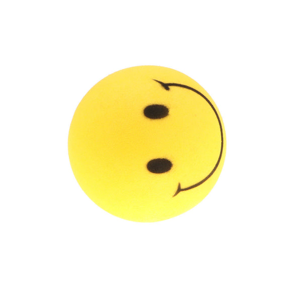2.4 inches EVA Foam Balls Lovely Smile Face Balls Dog Toys - 4pcs, Yellow
