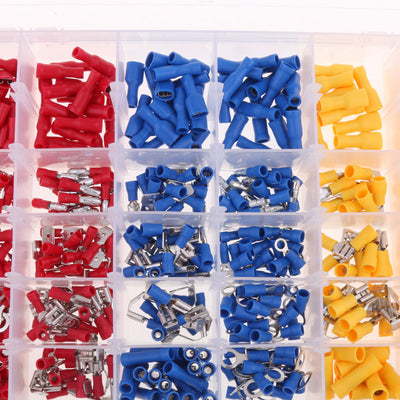 480x Electrical Connector Assorted Insulated Crimp Terminals Red Blue Yellow