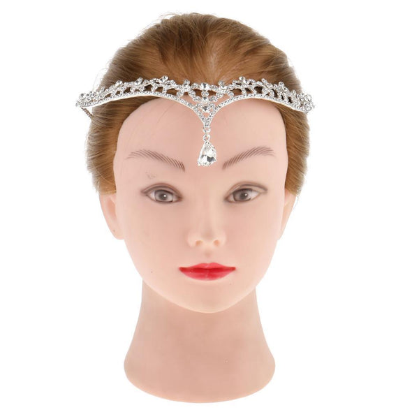 Crystal Rhinestone Head Chain Jewelry Women Girls Party Fancy Dress Hairband