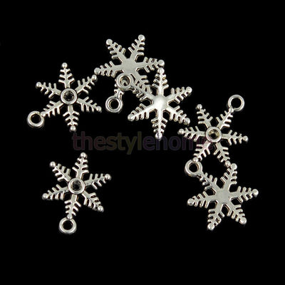 100pcs MagiDeal Snowflake DIY Beads Necklace Bracelet Christmas Crafts