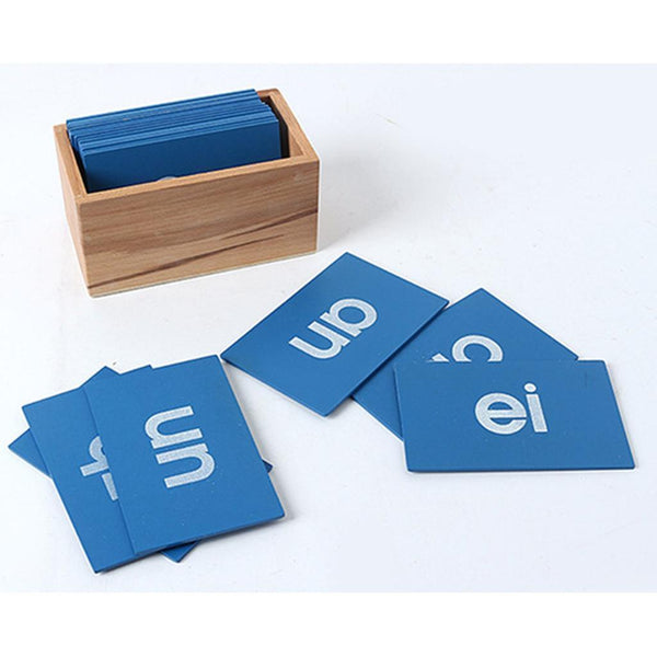 Montessori Vowel Sandpaper Card for Kids Early Language Learning Wooden Toys