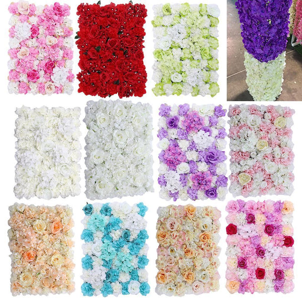 Artificial Flower Wall Panels Wedding Venue Floral Background Decorations