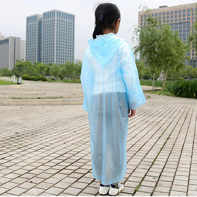 4pc Nondisposable Waterproof Kid Child Raincoat Poncho for Walking Emergency