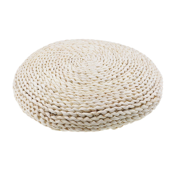 45CM Natural Straw Pouf Tatami Cushion Home Floor Meditation Yoga Round Mat