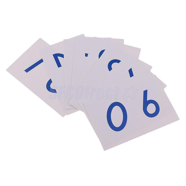 Montessori Math 1-9000 Number Learning Paper Card for Preschool Teaching Aid