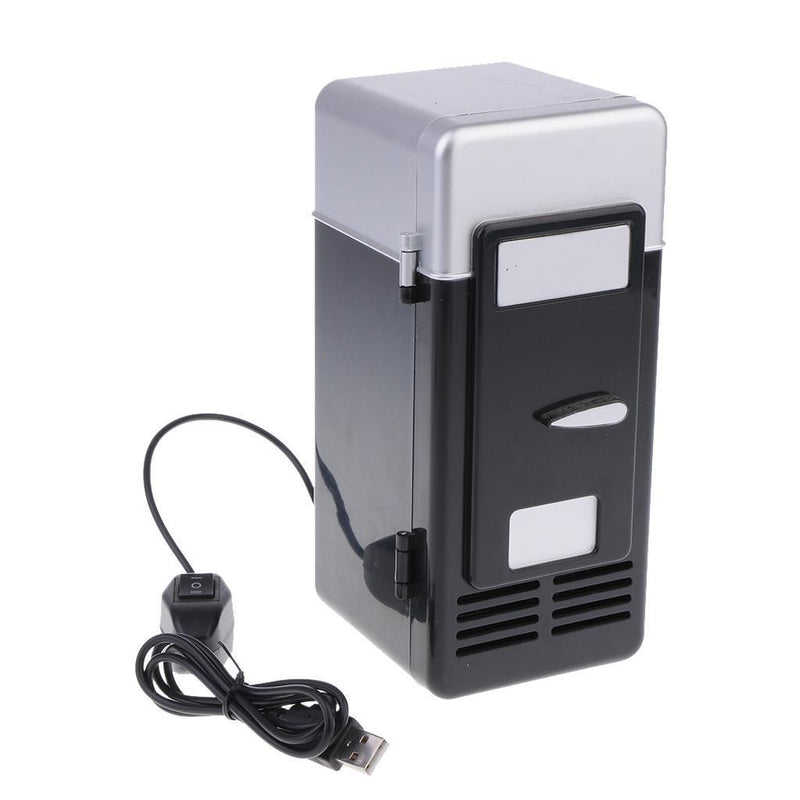 Small Refrigerator Travel Heat And Cool 5V USB Charging Fridge LED Black New