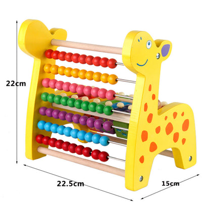 Wooden Fawn Developmental Toys Roller Coaster Beads Maze & Blocks & Abacus