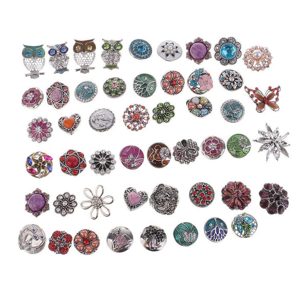 10x mix styles snap buttons 18mm jewelry making Interchangeable snap charms