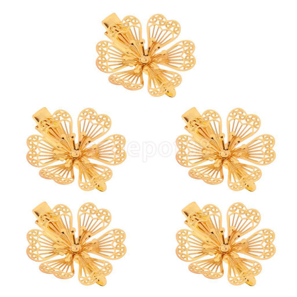 5pcs Women Retro Alloy Hair Clips Wedding Bride Hairpins Hair Beauty Tools C