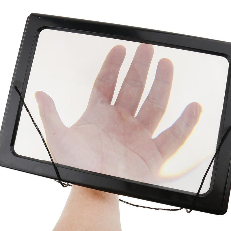 Hands-Free Full Page Magnifier 3X Reading Newspaper With Light For Aged