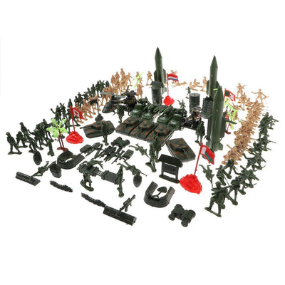 5cm Action Figures Army Men Soldier Military Playset with Vehicles 158pcs