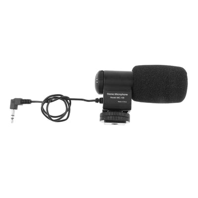 MIC-109 External 3.5mm Stereo Mic Microphone for Canon Nikon DSLR Camera DV
