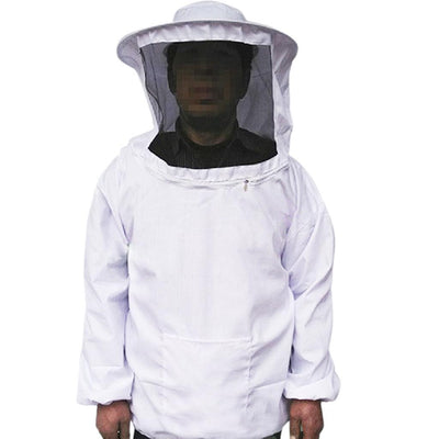 Beekeeping Protective Jacket Veil Dress Suit with Pull Hat Smock Bee Tool