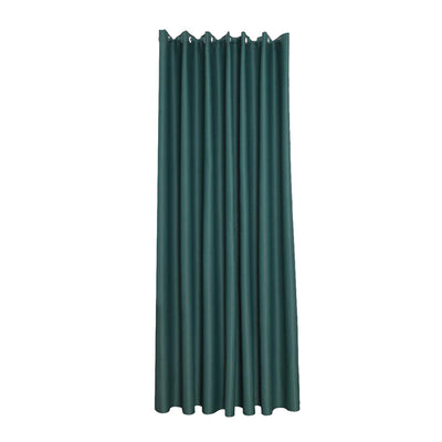 Thermal Insulated Curtain Eyelet Pure Fabric Room Darkening Green 140x245cm