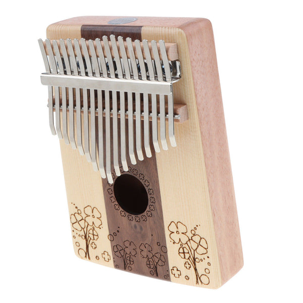 1 Set 17 Key Kalimba Mbira Finger Thumb Piano Four-leaf Clover Instrument