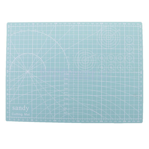 A4 Size 30x22cm Double Sided Cutting Mat PVC Board DIY Patchwork Mint green
