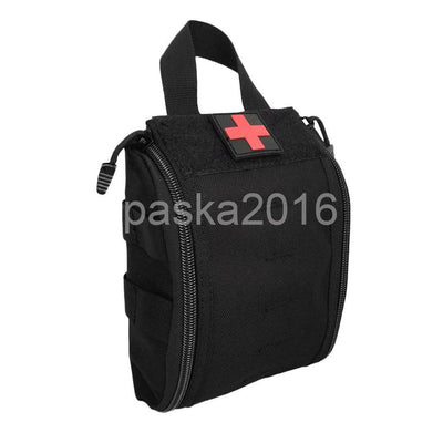 First Aid Bag Molle Medical EMT Utility Pouch Outdoor Emergency Military Blk