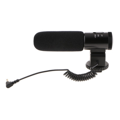 MIC-02 Stereo Recording Microphone 3.5mm Mic for DSLR Camera Camcorder DV