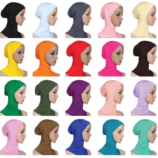 Womens Muslim Hijab Full Cover Headscarf Caps Islamic Soft Scarf Long Hijab