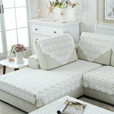 Antimacassar Sofa Back Cover Jacquard Chair Settee Protector Flower 65x75cm