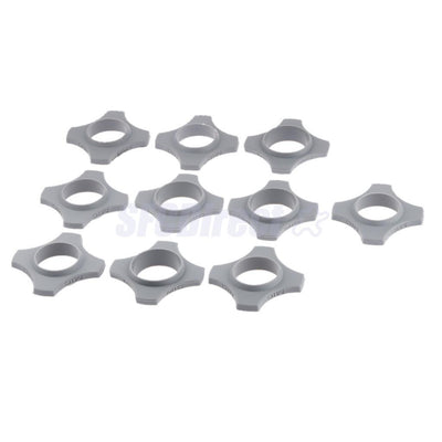 10Pcs Gray 4Point Mic Slip Holder Roller Wireless Microphone Shakeproof Ring