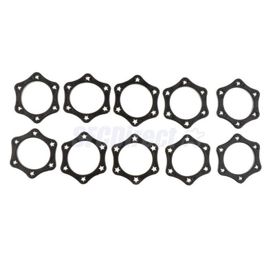 10x Black Hex Mic Slip Holder Roller Wireless Microphone Protection Ring