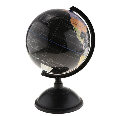 20cm World Globe for Home Desk Decoration Geography Educational Toys Black