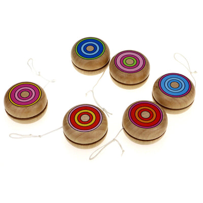 Wooden YOYO kids classic toys xmas gifts party favors kindergarten New.